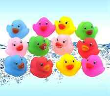 12pcs/set Coloured Counting Bath Ducks Children For Fun Toy Gift Color RandomUS