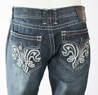 Xtreme Couture AFFLICTION Men Denim Jean DOUBLE FLEUR Embroidered $79