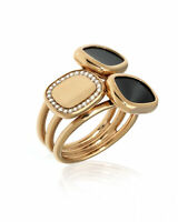 Roberto Coin 18k Rose Gold Diamond 0.12ct Black Jade Ring Sz 6.75 888616AX70JX