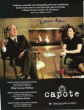Philip Seymour Hoffman & Catherine Keener signed Capote 8X11 - Rare
