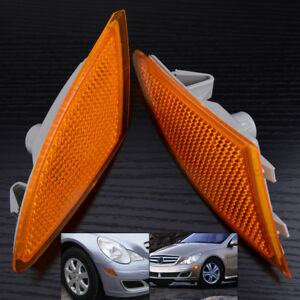Bumper Turn Signal Light Left+Right Fit for Mercedes Benz R320 R350 R500 R63 AMG