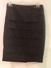 IZ Byer Women's Gray Black Tiered Skirt Size 3