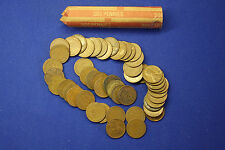Mixed Wheat Lincoln Cent Roll 1909 to 1958 50 coins in each roll