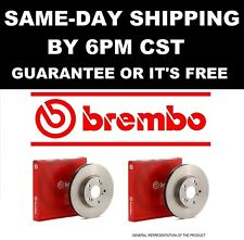 BREMBO 25707 Rear Brake Rotors Pair Set 2001 2002 2003 2004 2005 AUDI TT QUATTRO
