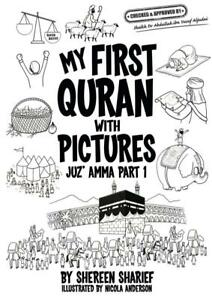 My first Quran with pictures Juz Amma part 1. Children Islamic Colouring in book