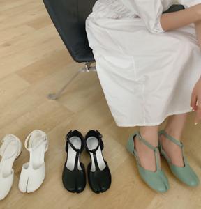 Women's Summer Mary Jane Split Toe Shallow Moth Ankle Strap Sandals Dress Shoes