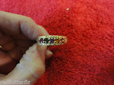 14k STS stamped gem ring 9 citrine amethyst purple light dark pink green stones