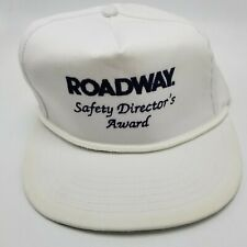 ROADWAY Safety Directors Award Hat Cap White Strapback Used Adult USA W3