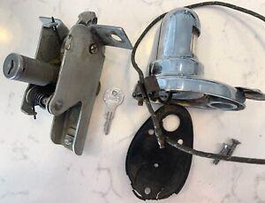 Kaiser Henry J License Light Assembly Trunk Latch Cylinder Lock Key