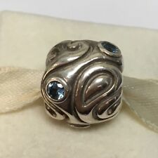 New Genuine Pandora Charm Large Day Dream Light Blue Synthetic Spinel 790869SSL