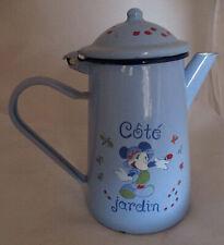 Cafetière tôle émaillée Mickey Disney rétro / Enamelware Coffee Pot Disneyland