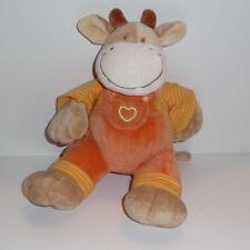 Doudou Vache Mots d'enfants - Orange
