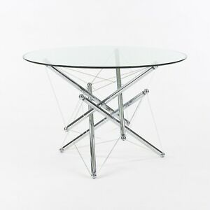 1980s Theodore Waddell for Cassina 714 Tensegrity Chromed Steel Dining Table