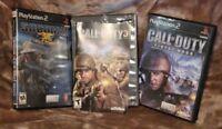 "PS2 CALL OF DUTY ""3"", FINEST HOUR & SOCOM II (3 Game Lot)"