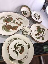 lot Vintage STANGL POTTERY ORCHARD SONG  DINNER hand painted. 12 pcs
