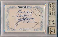 JACK DEMPSEY 2016 Topps ALLEN & GINTER Cut Signatures AUTO 1/1 BGS 9.5 AUTO 10