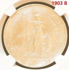1903 B China Hong Kong UK Great Britain Silver Trade Dollar NGC UNC Details