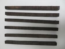"(6)  LOT OF 6,   MACASSAR EBONY POOL CUE BLANK TURNING WOOD KNIFE  1"" x 1"" x 18"""