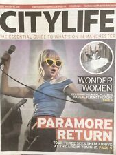 PARAMORE - IN MANCHESTER UK City Life supplement January 2018