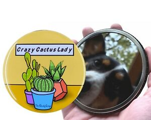 Crazy Cactus Lady Pocket Mirror Gardening Gift and Collectible Plant Accessories