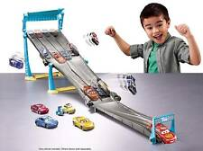 Disney Cars 3 4-Lane Elimination Race Florida speedway race-off track set.