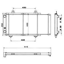 Wasserkühler Motorkühler Autokühler NRF (52152)