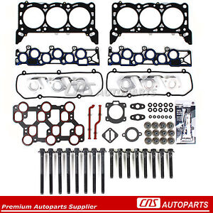 Head Gasket Set Bolts Fits 01/15/1998-04 Ford Mustang F150 3.8 4.2 OHV VIN 2 4 6