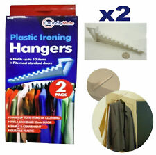 2 Over The Door Hooks Neat Space Saving Ironing Clothes Multi Coat Hanger Holder