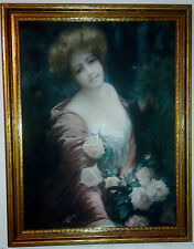 James Ross Bryson Antique Victorian Advertising Woman Roses 1905