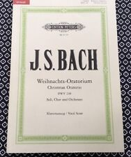 J.S. Bach Christmas Oratorio (Weihnachts-Oratorium), vocal and piano score