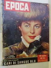 EPOCA 2 dicembre 1956 Ingrid Bergman Guido Cantelli Charlie Chaplin Shahnaz di e