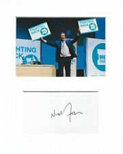 More details for nigel farage the brexit party genuine authentic signed autograph display aftal
