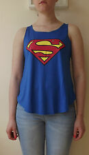 SUPERMAN T-Shirt Vest Tank TOP Ladies Girls New SUPER HERO TSHIRT BATMAN COMIC