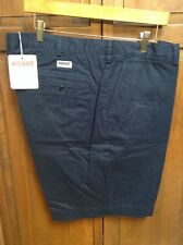 BOAST USA Peruvian Cotton Flat Front Shorts Navy Blue Men's 42 NWT New