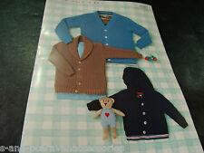 Sirdar Snuggly 4 Ply Yarn Knitting Pattern 4640 Birth to 7 Years