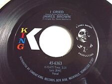 James Brown I Cried / World Part 2 45 1971 King Vinyl Record