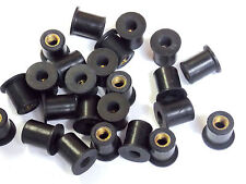 New rubber well nuts, Choose size and Quantity, motorbike fairing nut, wellnut