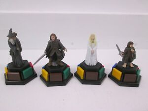 Trivial Pursuit DVD Ediiton Lord of the Rings LOTF Set of 4 Character Tokens
