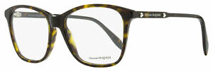 Alexander McQueen Square Eyeglasses AM0191O 002 Havana 54mm 191