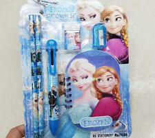 1 Set Frozen Elsa Anna Stationery 6in1 School Party Favor US Seller Pen Eraser