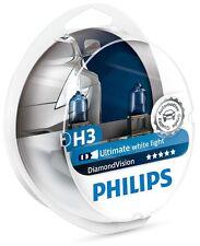 Genuine Philips H3 Diamond Vision 5000K 12336DVS2 Ultimate White Light (1 set)