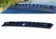 FRONT ROOF SPOILER MATTE MATT BLACK WITH LED FOR ISUZU D-MAX DMAX 2015-2017