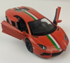Kinsmart Diecast Lamborghini Aventador Orange Metal Collectable 1:32 Pull Back