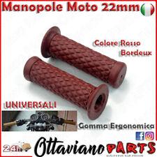 MANOPOLE MANICOTTI Gomma MANUBRIO per MOTO BMW KAWASAKI KTM Rosso M88