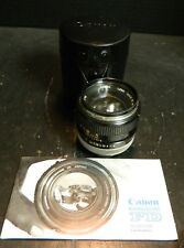 Vintage Canon FD 50mm 1:1.4 35mm Lens w/ Toshiba 55mm SL-C Filter In Case Excell