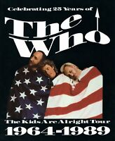 THE WHO 1989 THE KIDS ARE ALRIGHT TOUR CONCERT PROGRAM BOOK-TOWNSHEND-NM 2 MINT