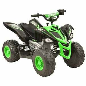 Yamaha 12 Volt Electric Raptor Quad Bike ATV Black and Green