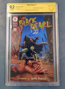 BLACK PEARL #1 CBCS 9.2 Signed by MARK HAMILL & Eric Johnson (1996, Dark Horse)