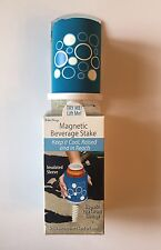 Magnetic Beverage Stake, Keeps Cool and Sand-Free! New In Box! Insulated Sleeve