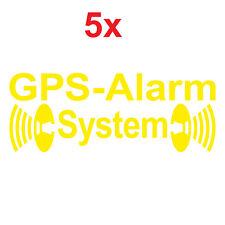 5 Autocollant Tatouage GPS Système D'Alarme Jaune en Sens Inverse Voiture Shop